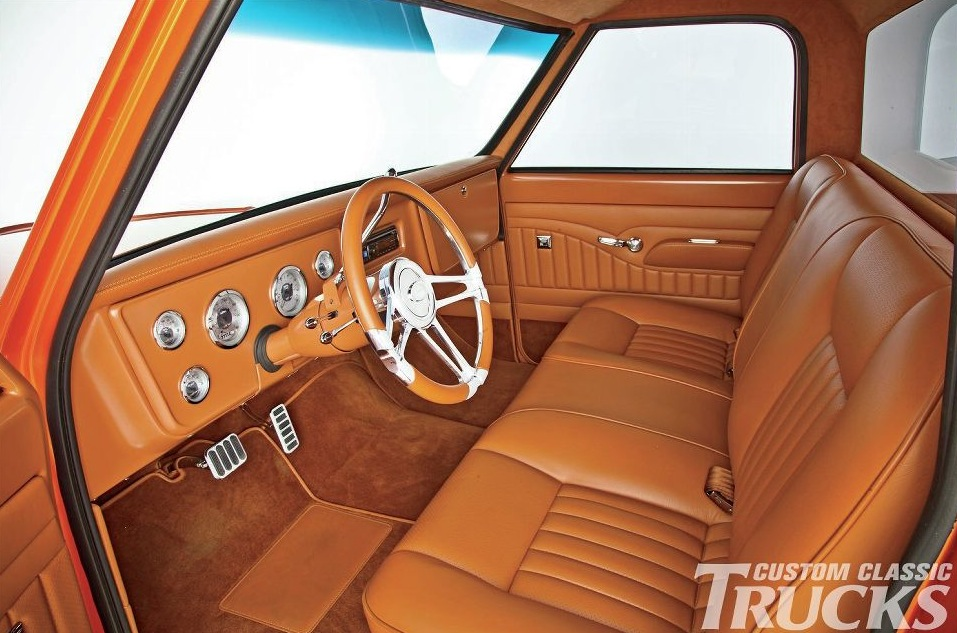 this orange pearl chevrolet c10 truck is a true classic autoevolution. Black Bedroom Furniture Sets. Home Design Ideas