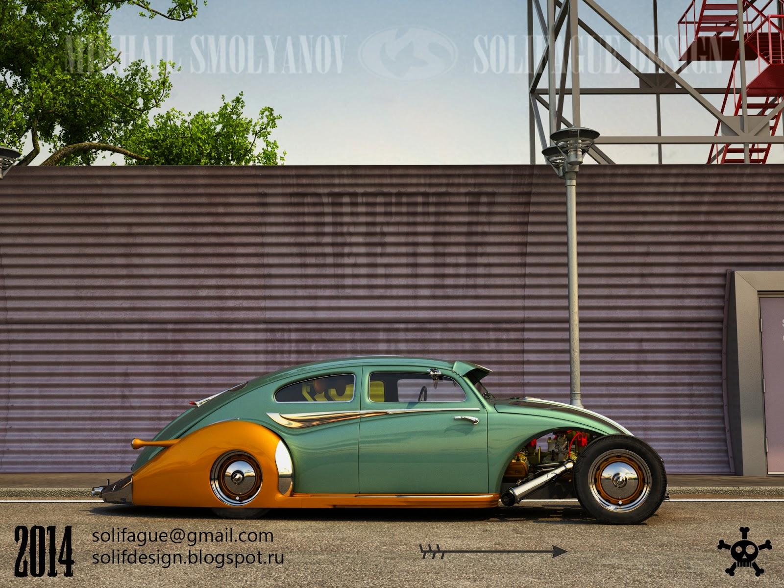 This Volkswagen Beetle Hotrod Rendering Should Become Real