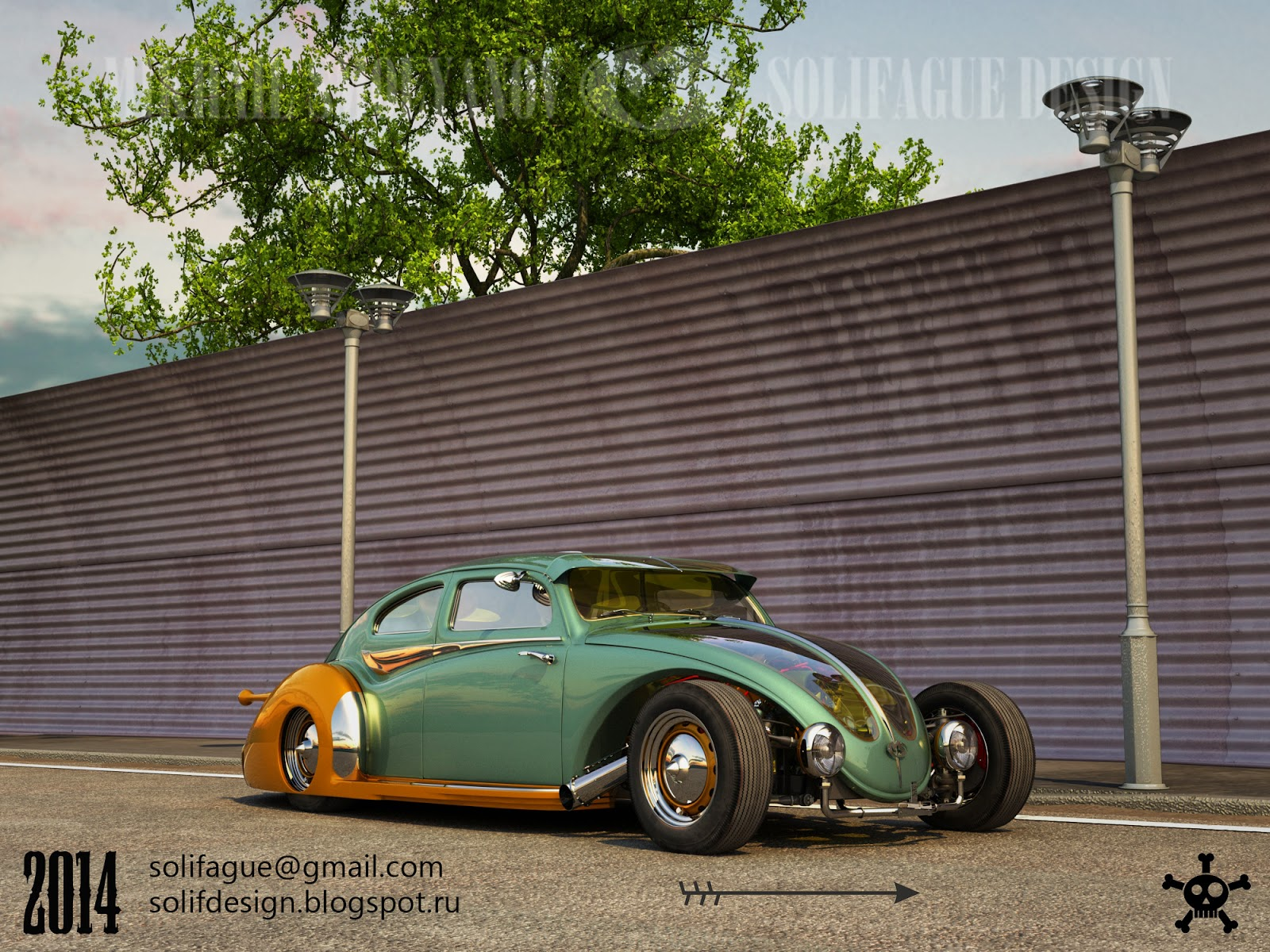 This Volkswagen Beetle Hotrod Rendering Should Become Real