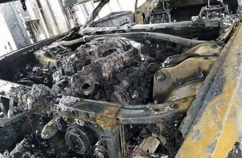 Update Three Dodge Demons Burn Down In Delivery Truck