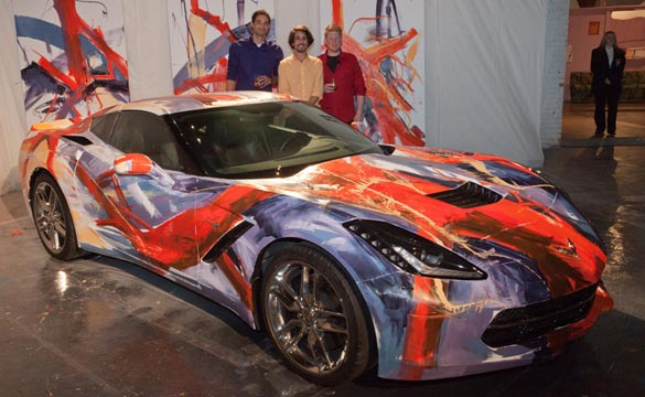 Three Gm Designers Painted A Corvette Stingray Raising