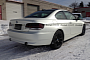 Satin Pearl White BMW 335i