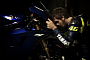 Lorenzo and Rossi teasing the Yamaha M1