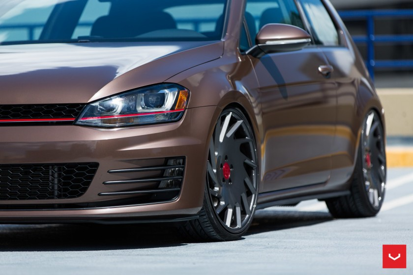 Toffee Brown 2015 Golf GTI Gets Vossen Wheels and APR Tune ...