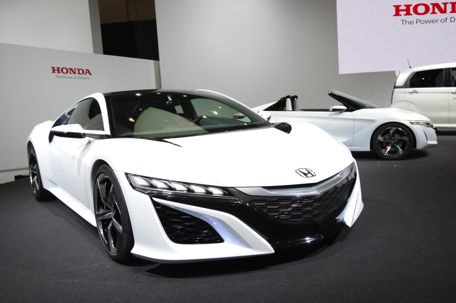 tokyo 2013 honda nsx concept in white live photos autoevolution. Black Bedroom Furniture Sets. Home Design Ideas