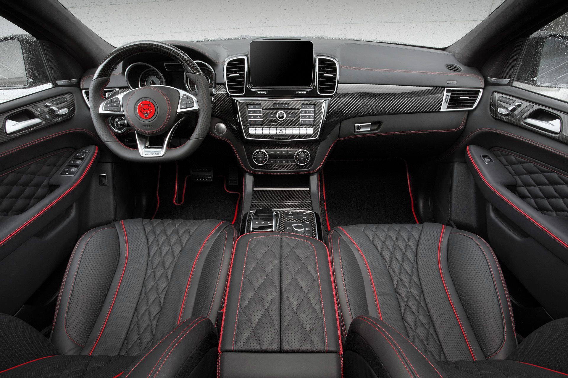 Topcar does carbon fiber and black leather interior for for Interieur 2015