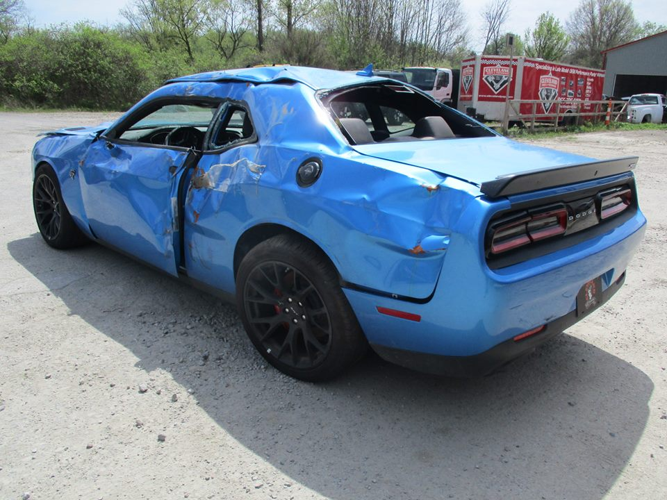 Update Totaled Dodge Challenger Hellcat For Sale With 18 Miles