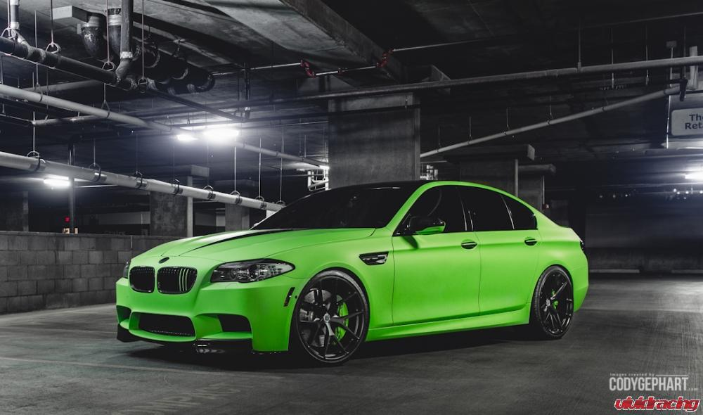 Toxic Green Bmw F10 M5 Represents Vivid Racing At 2014