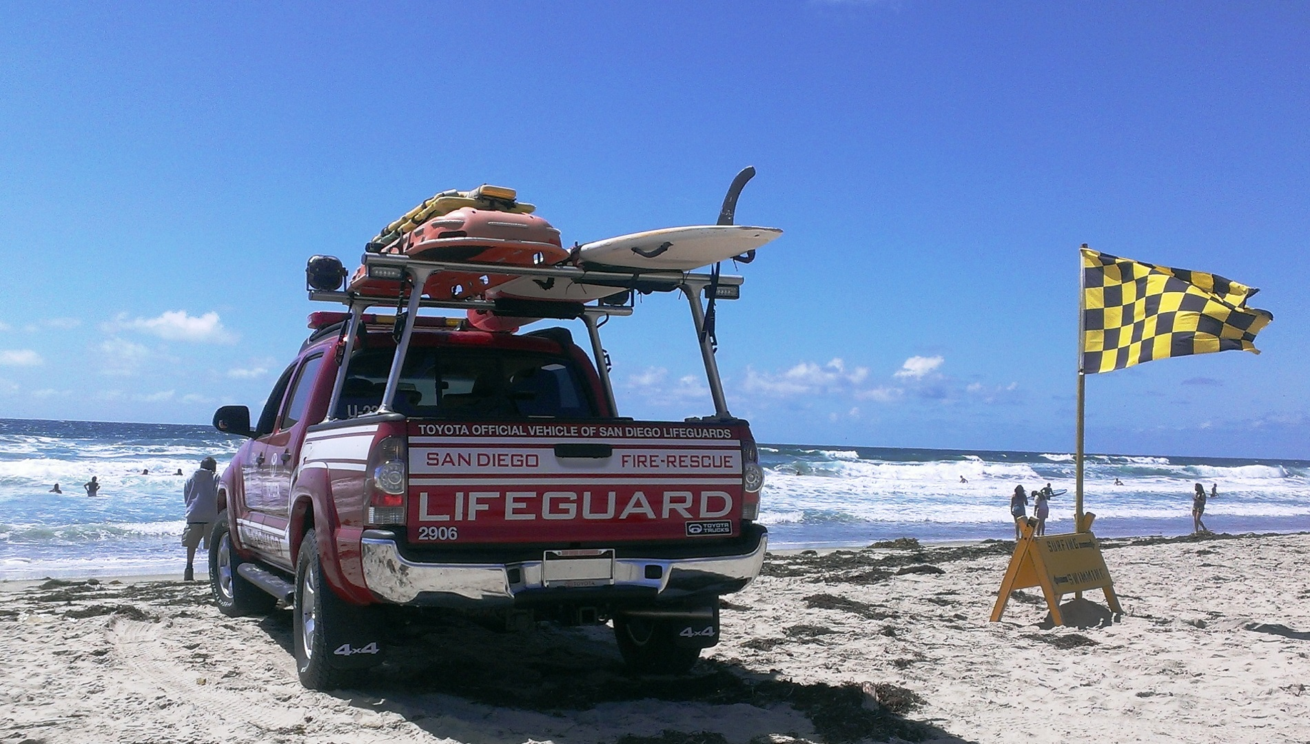 Toyota Aiding San Diego Lifeguards in Beach Safety Promotion