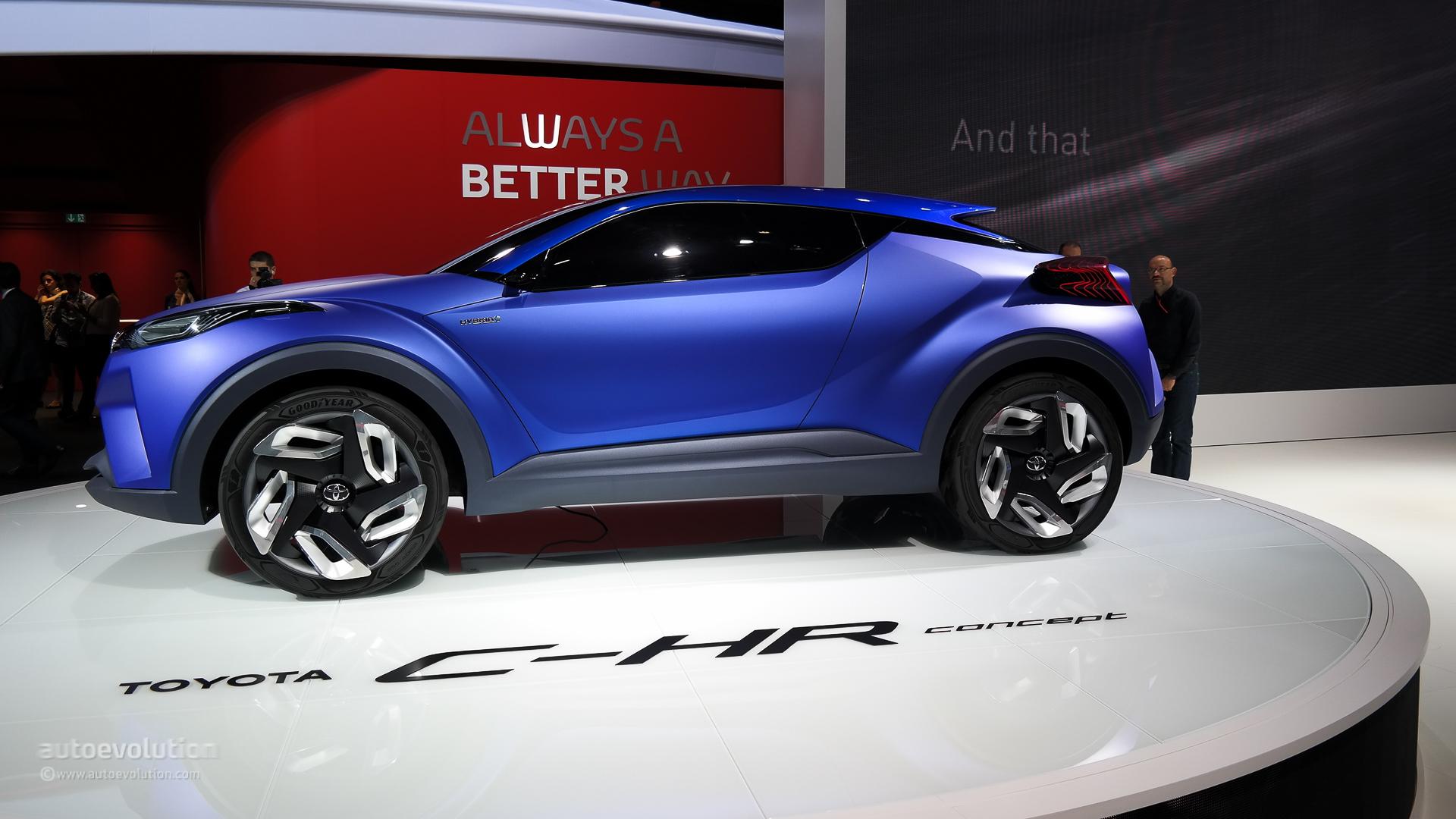 Toyota c hr concept breaks cover at paris 2014 live photos autoevolution
