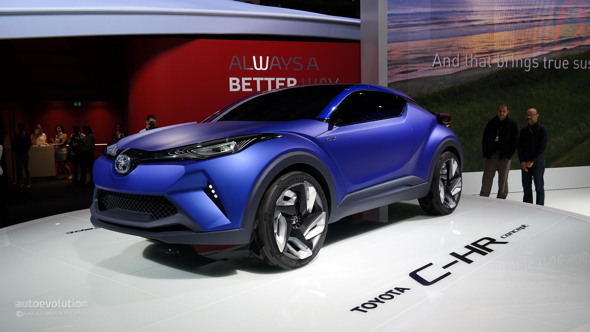 Toyota C-HR Concept Breaks Cover at Paris 2014 [Live Photos ...