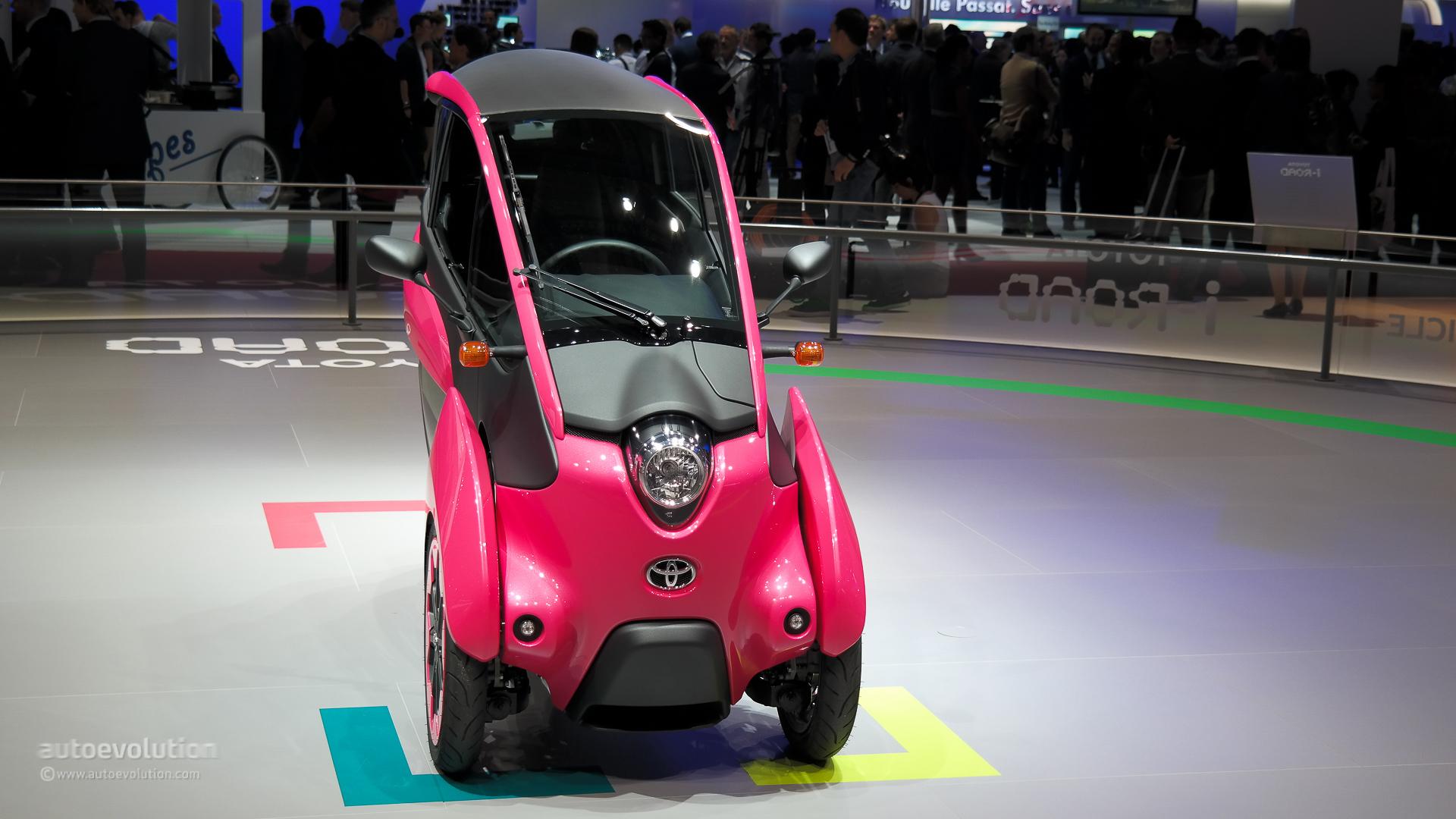 2014 Toyota Tacoma >> Toyota i-Road Wears Pink at Paris Motor Show 2014 [Live Photos] - autoevolution