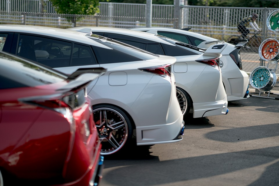 Toyota Prius Gathering In Japan Is All About Quad Exhausts