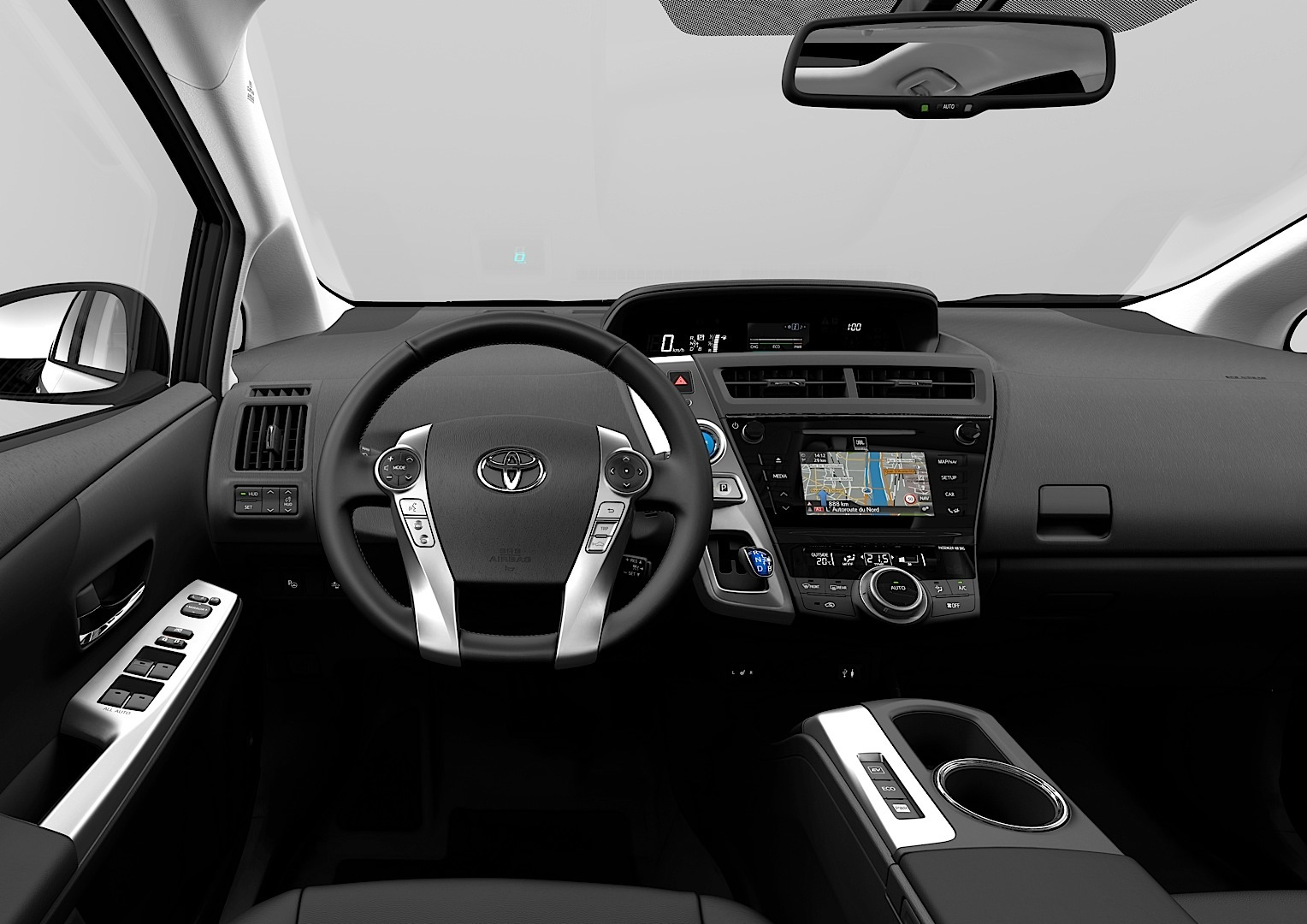 Toyota Prius v Gets an Angry Face for 2015 - autoevolution