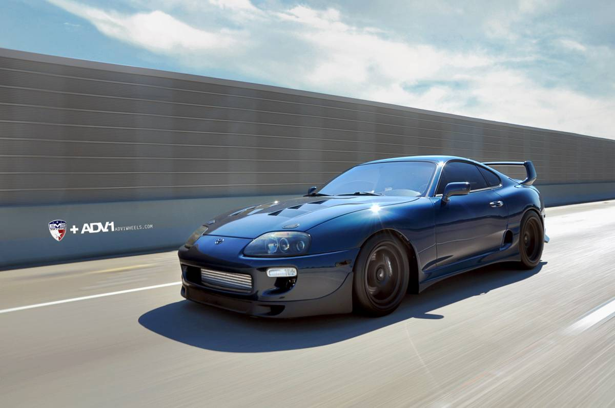 toyota supra looks mean on adv 1 wheels autoevolution. Black Bedroom Furniture Sets. Home Design Ideas