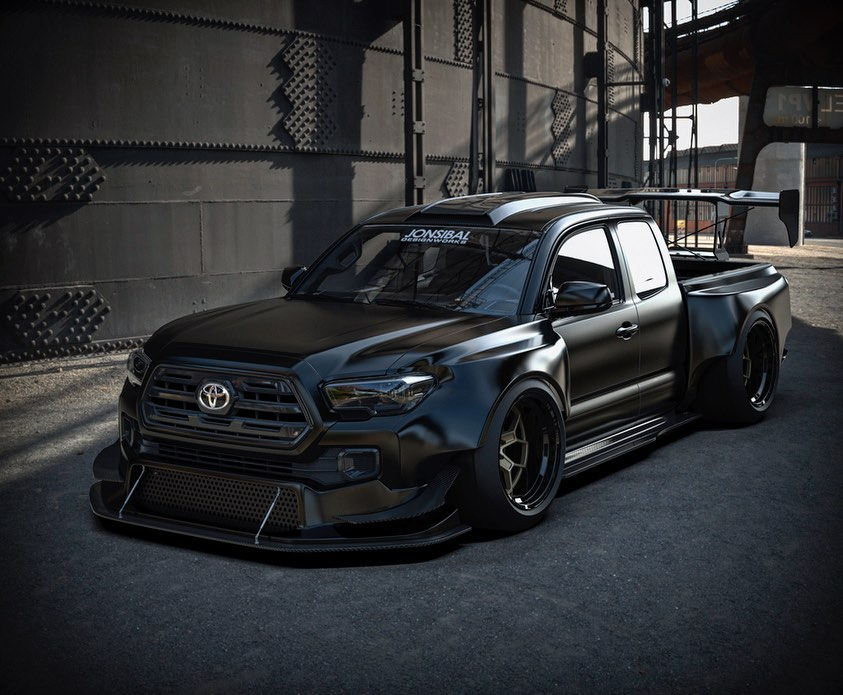 Toyota Tacoma Widebody Drift Truck Looks Even Better In
