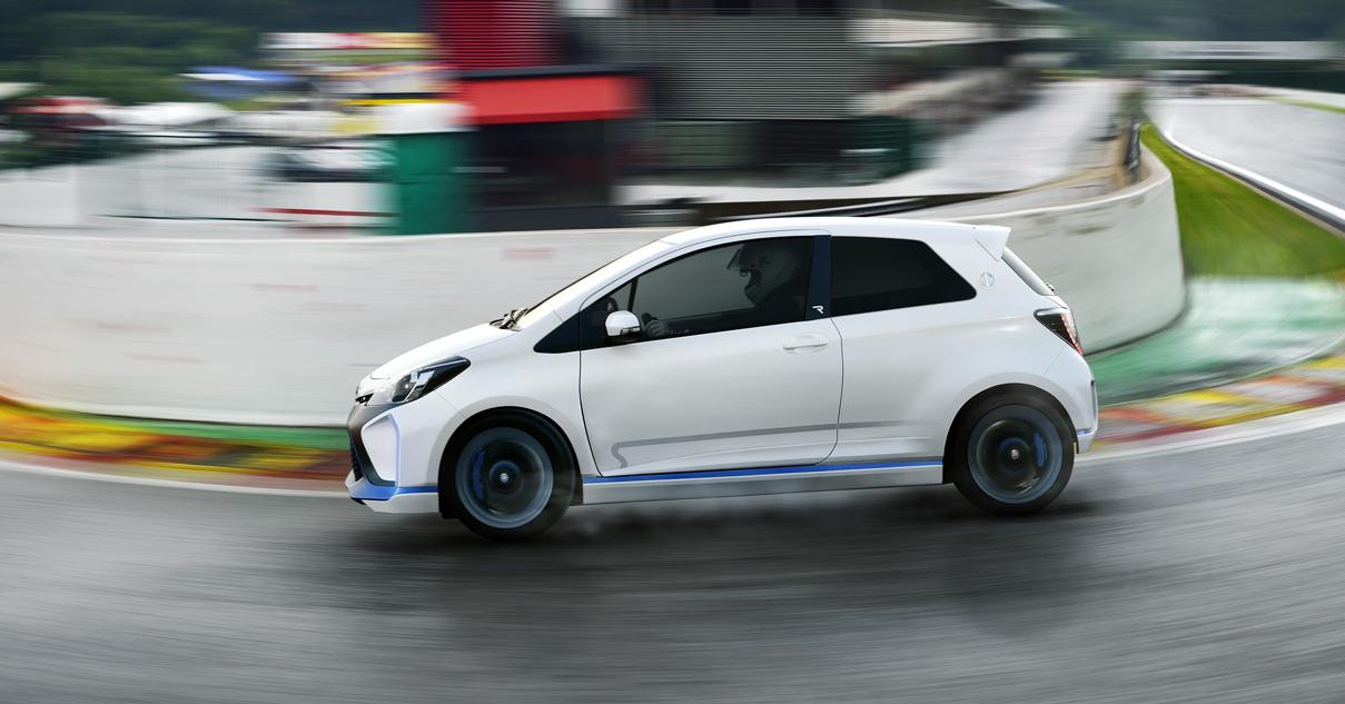 toyota yaris hybrid r concept gets fully revealed   autoevolution