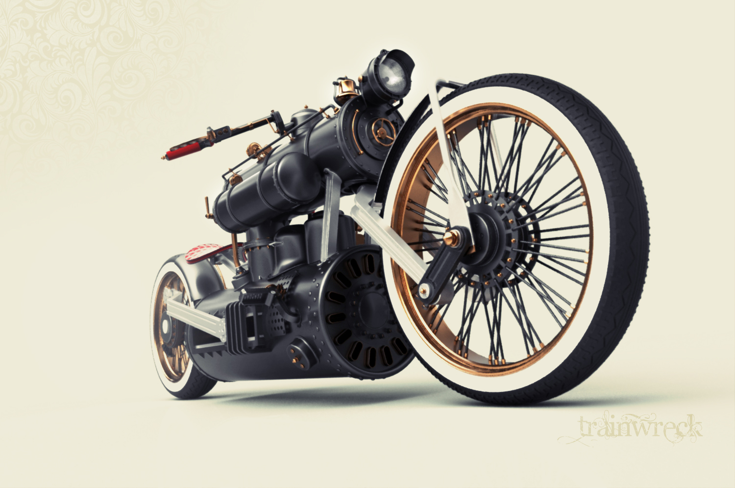 Train Wreck The Steam Engine Concept Motorcycle