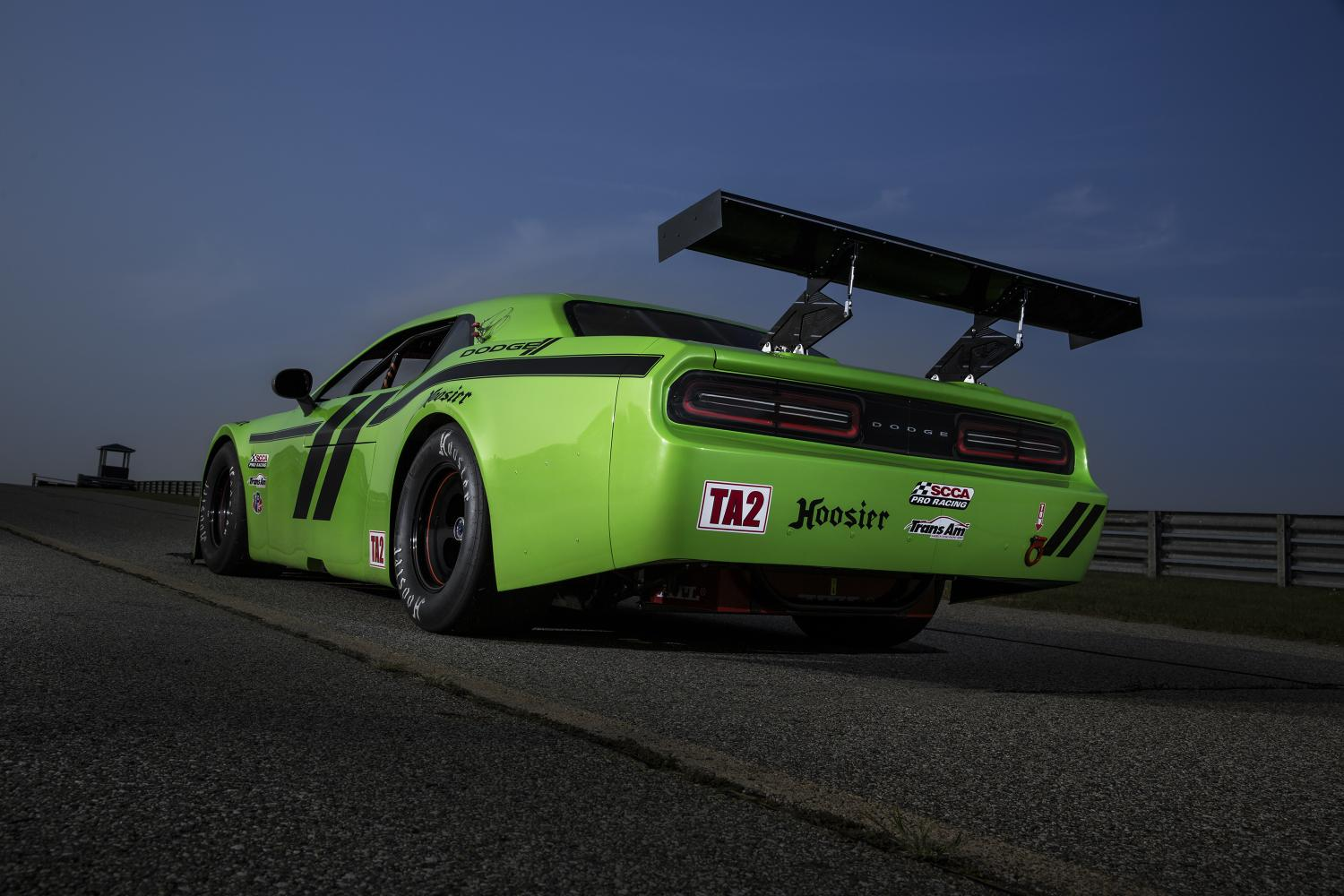 Trans Am Dodge Challenger Srt Is A Lean Mean And Green