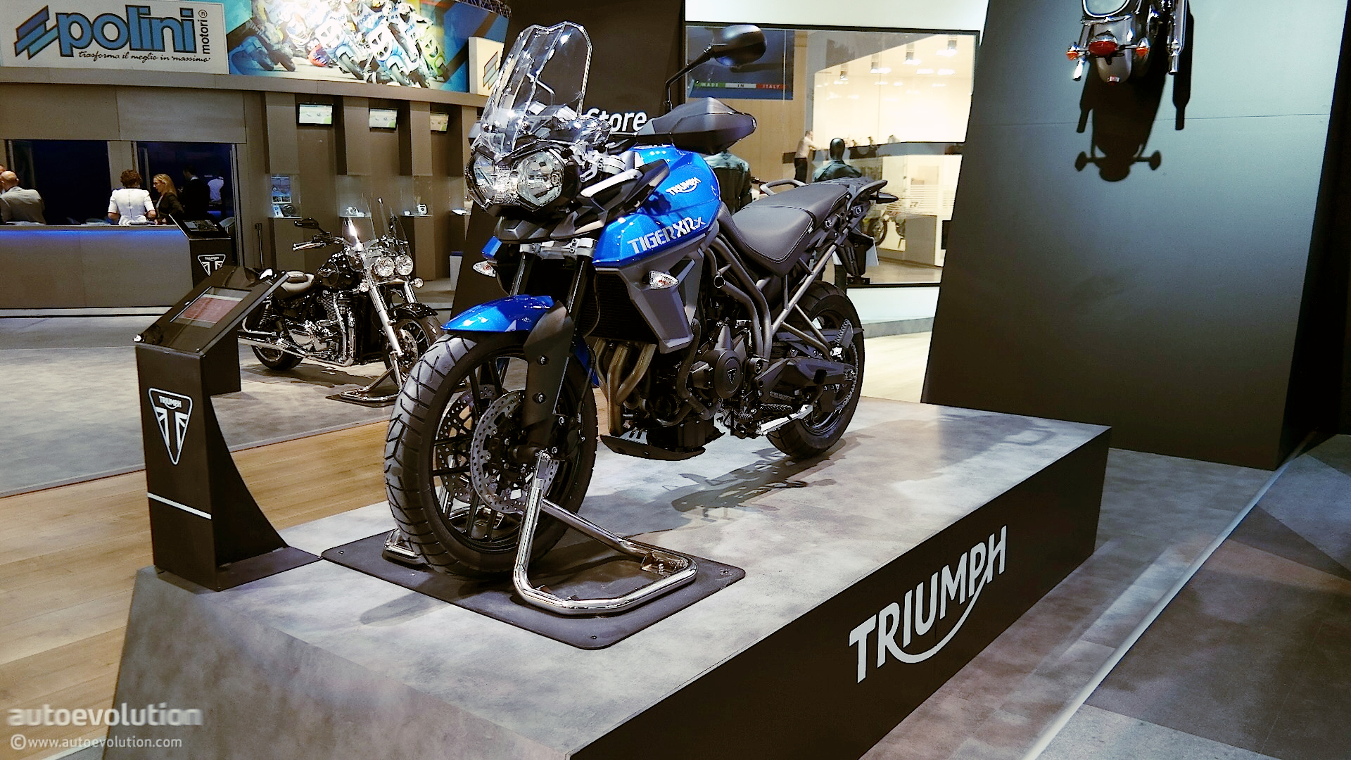 Triumph Tiger Xcx And Xrx Prepping For Adventure At Eicma Live Photos on 2010 honda cr v navigation system