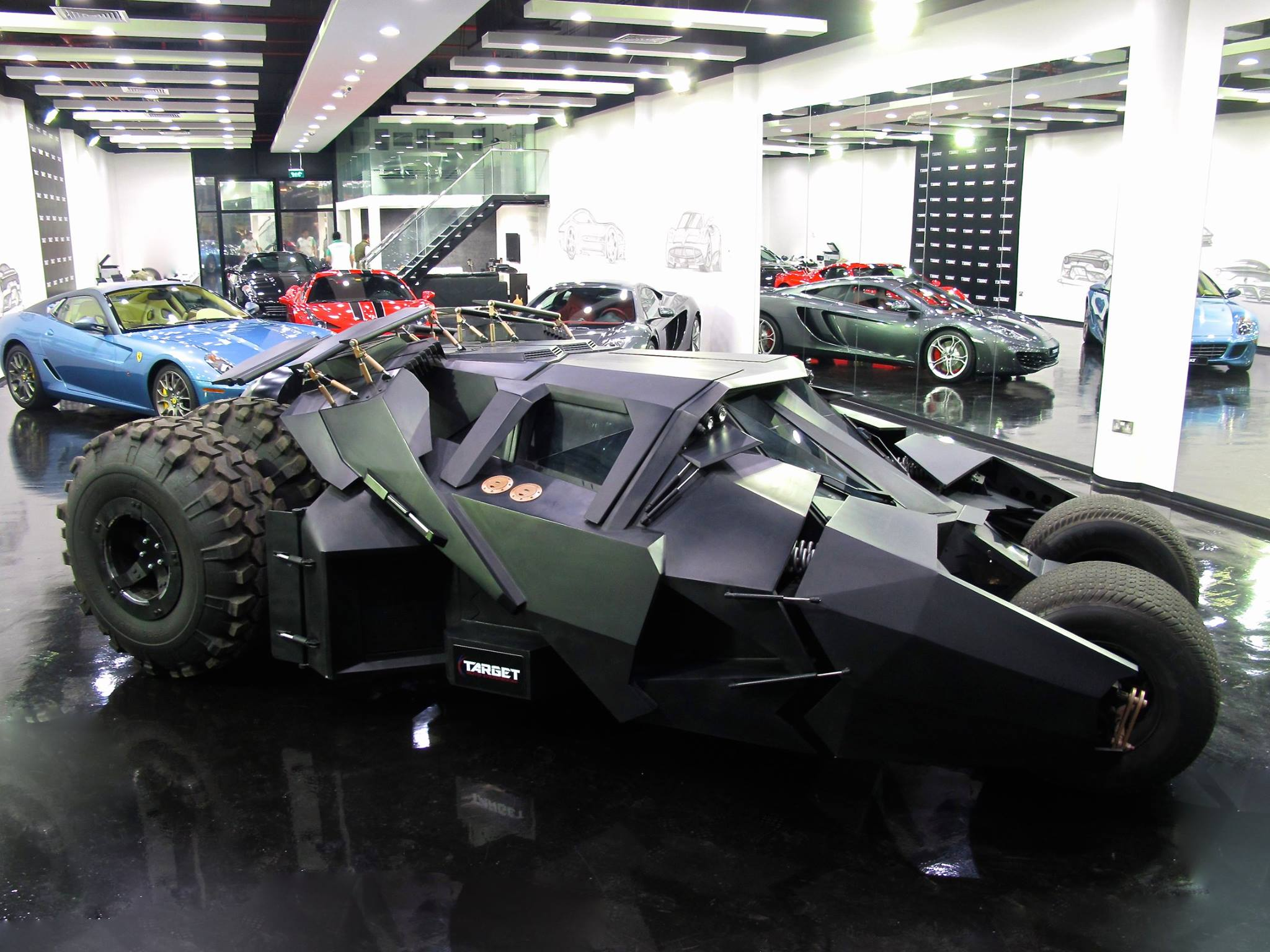 tumbler batmobile and tron bike for sale in dubai luxury dealership autoevolution. Black Bedroom Furniture Sets. Home Design Ideas