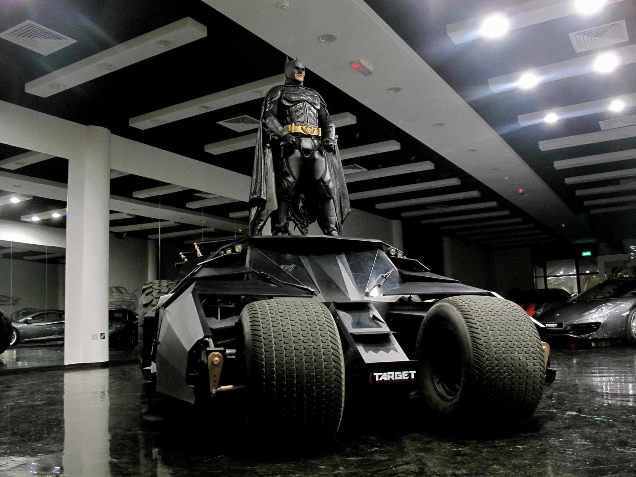 Tumbler batmobile and tron bike for sale in dubai luxury for Newspaper wallpaper for sale