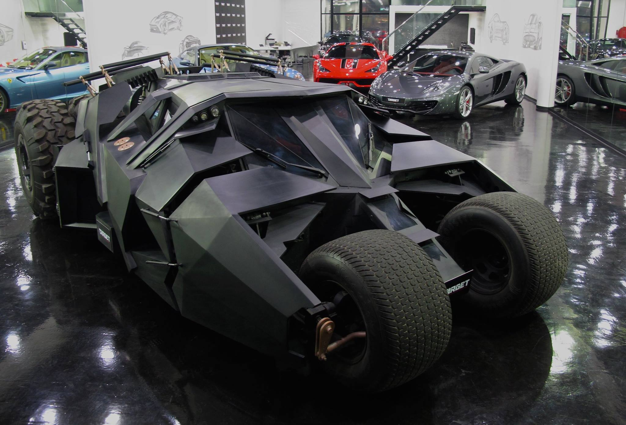 Tumbler Batmobile And Tron Bike For Sale In Dubai Luxury Dealership Autoevolution