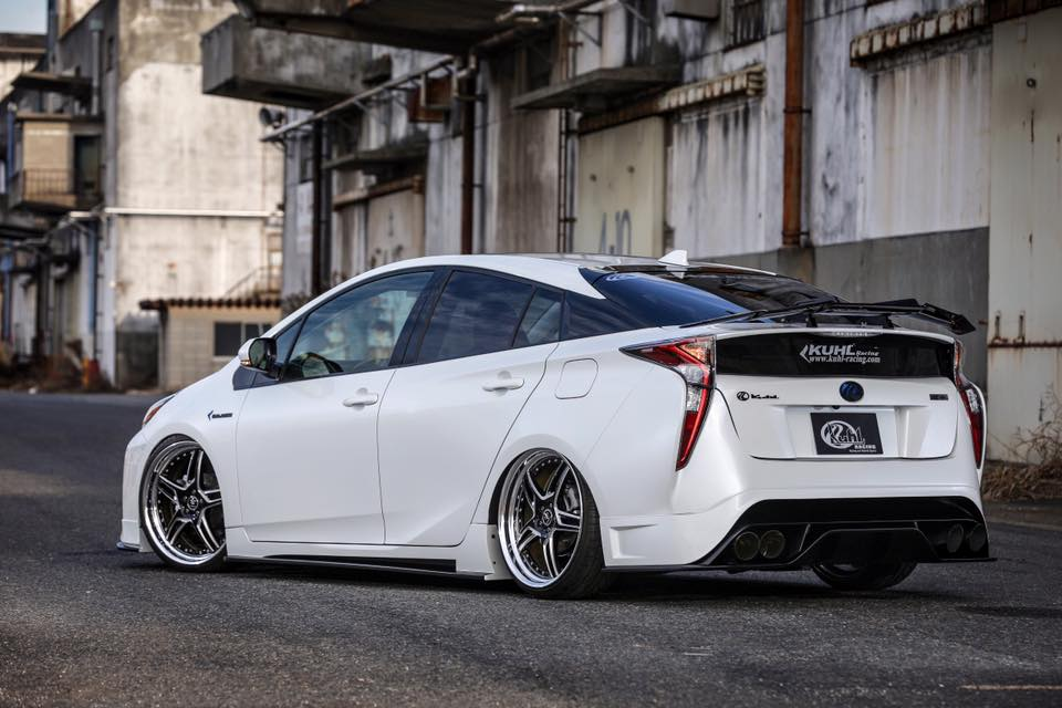 Tuned 2016 prius with quad exhaust and leather wrap looks too weird autoevolution