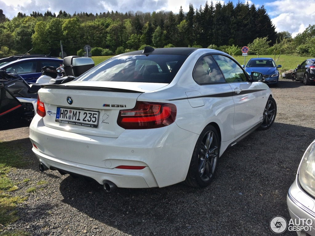 tuned bmw m235i spotted near the nurburgring autoevolution. Black Bedroom Furniture Sets. Home Design Ideas