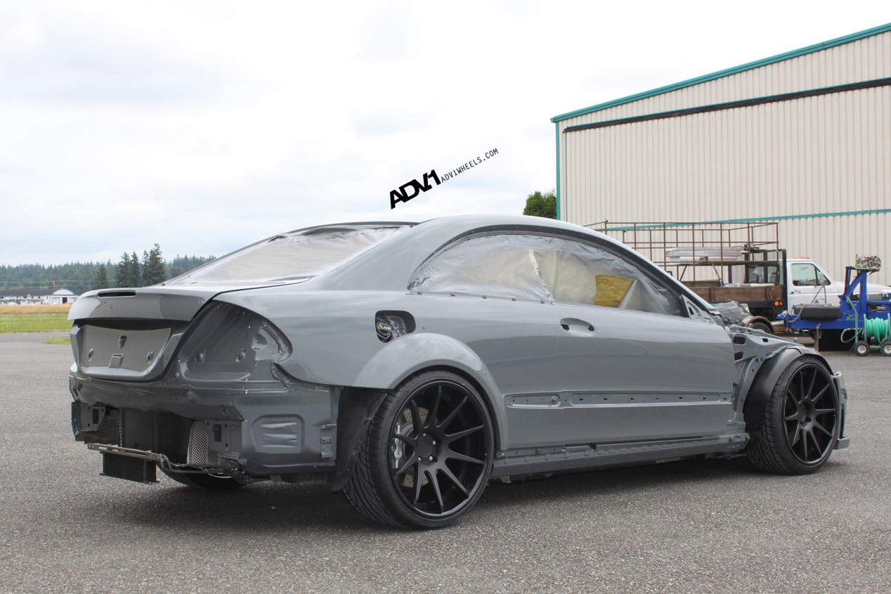 Tuned mercedes clk63 amg black series rides on adv 1 wheels autoevolution