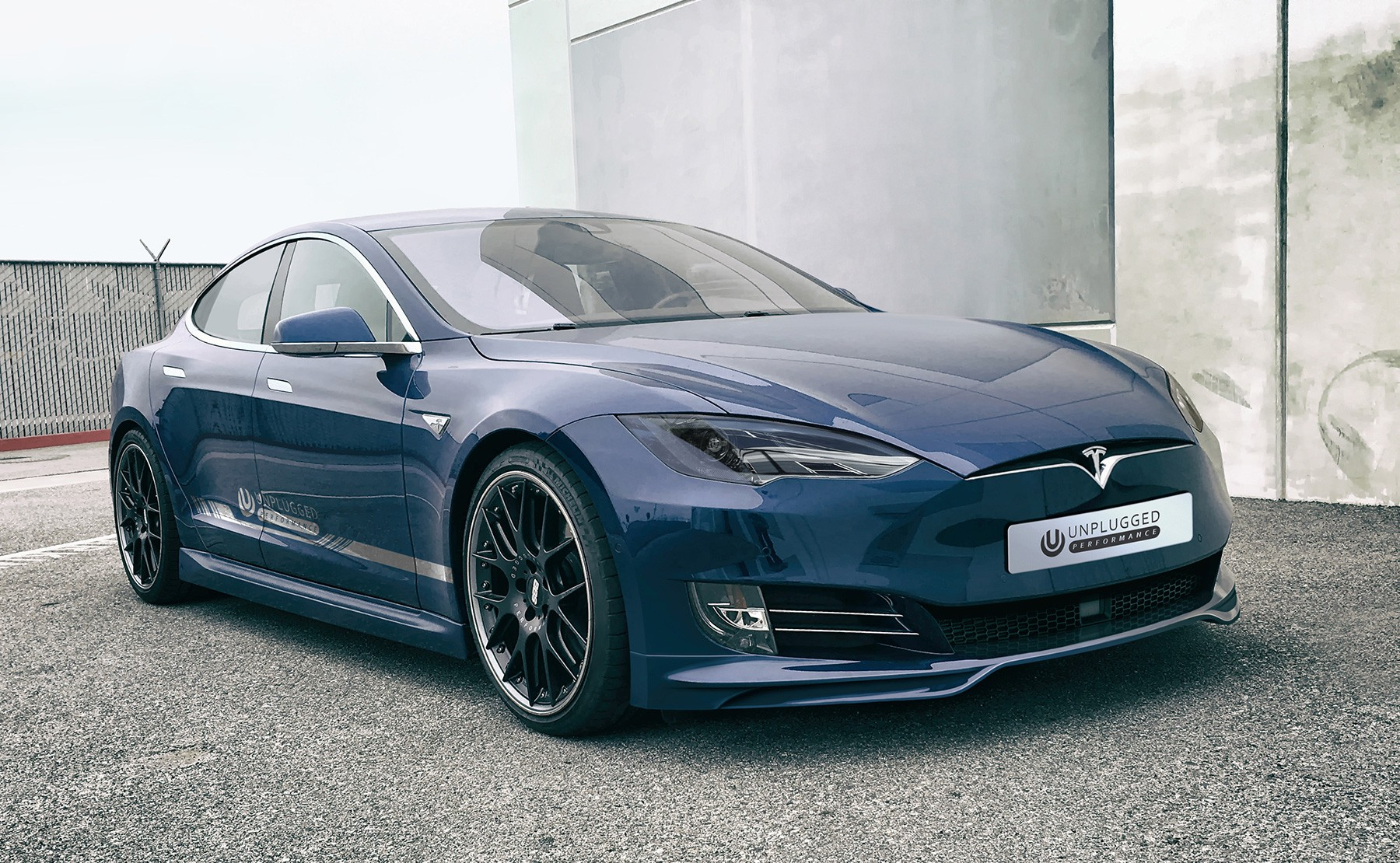 tuning company proposes new face for old tesla model s. Black Bedroom Furniture Sets. Home Design Ideas