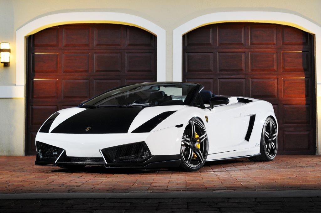 Twin Turbo Lamborghini Gallardo Plays Black Amp White Game