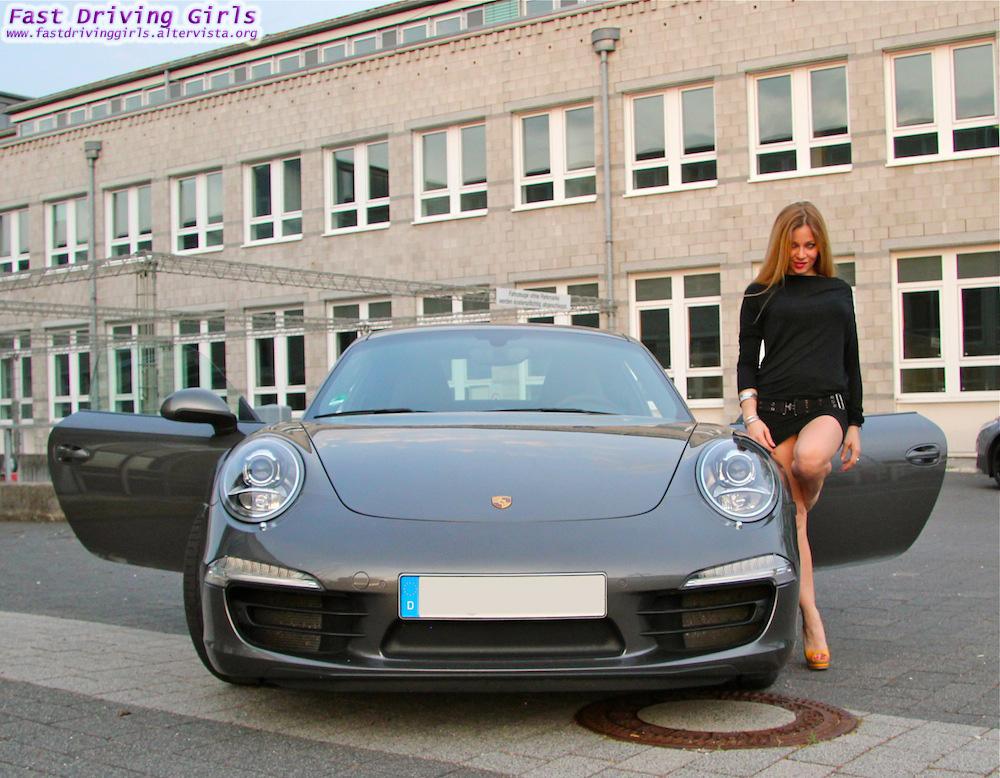 Drive: Two Girls Drive A New Porsche 911 In High Heels [Video
