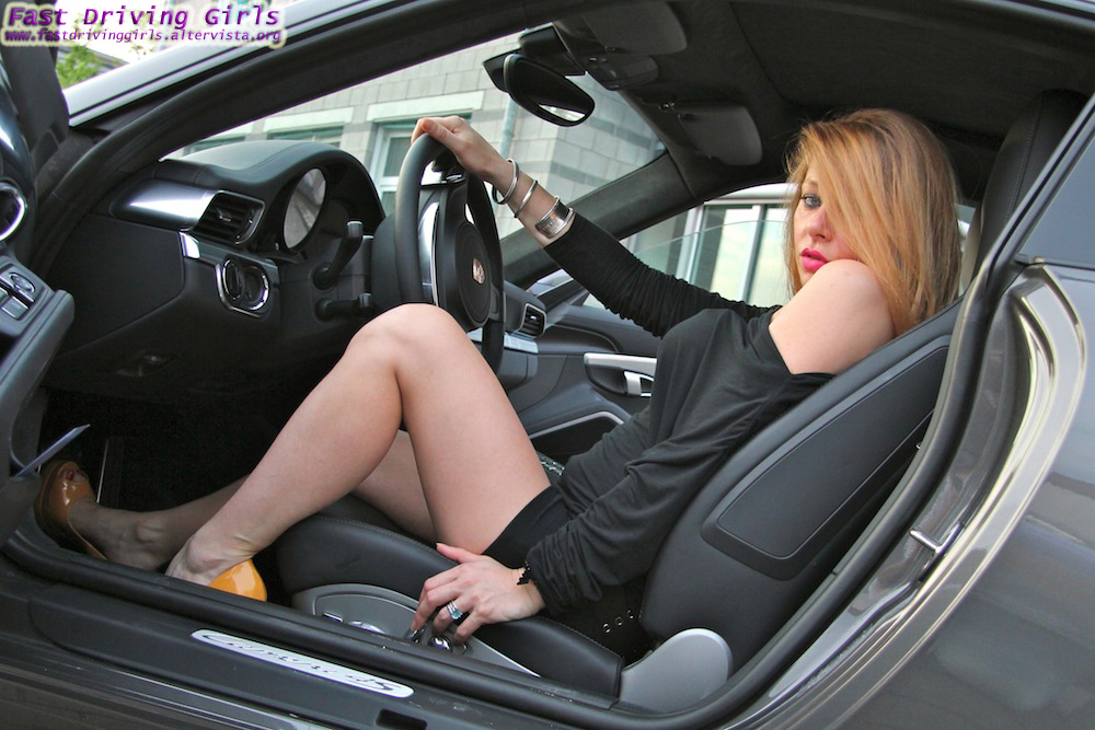 Two Girls Drive A New Porsche 911 In High Heels Video