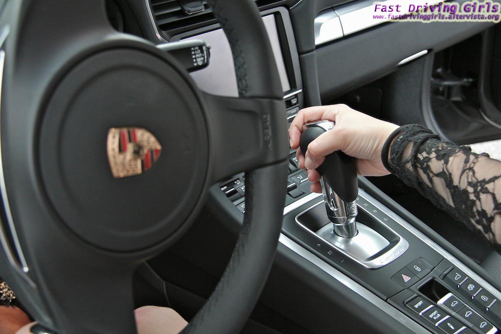 Two Girls Drive A New Porsche 911 In High Heels Video