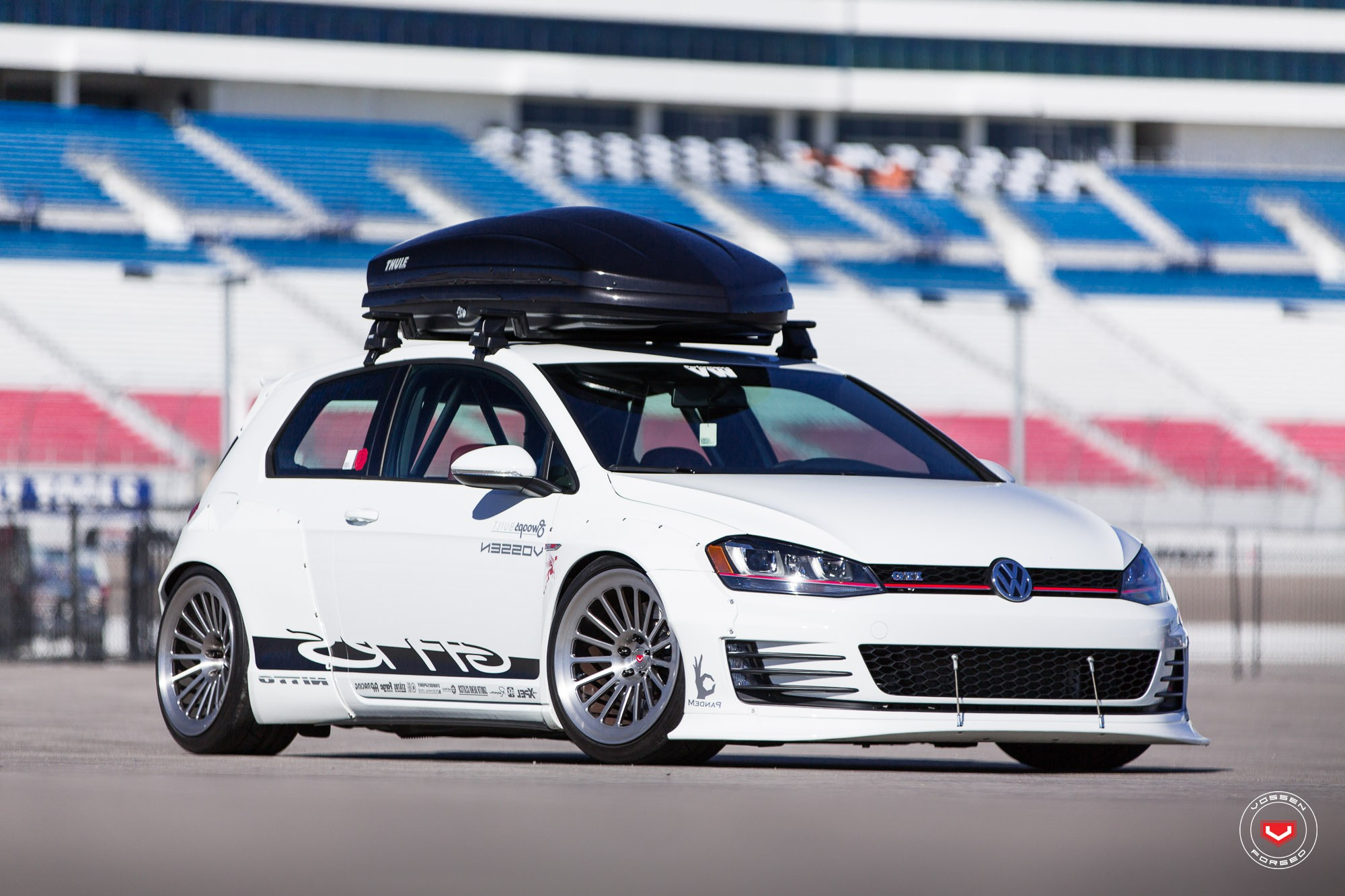 Two Rocket Bunny Golf GTI Customs Start in Vossen Photo ...