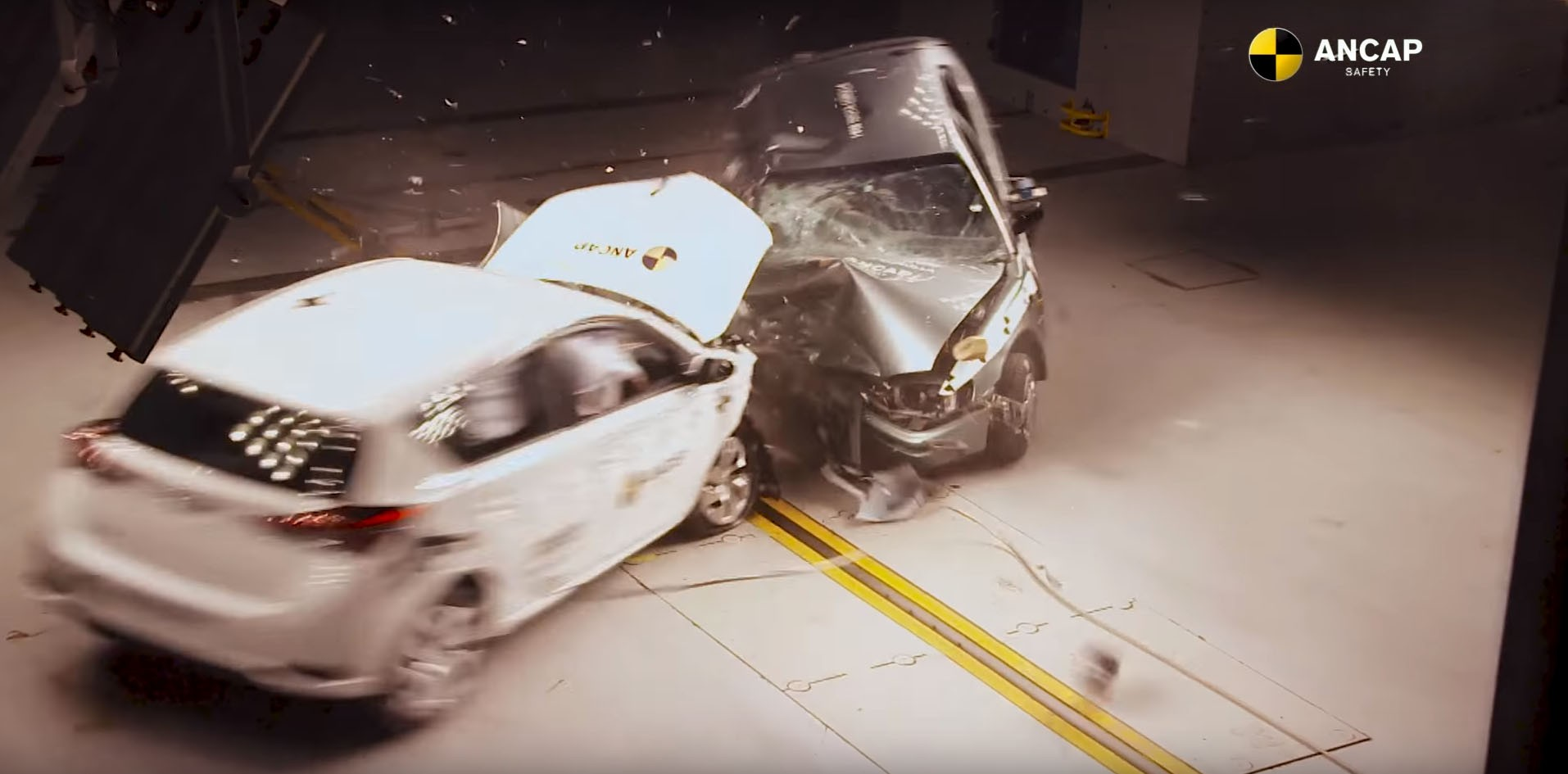 17 years apart toyota crash test