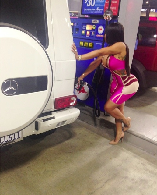 Tyga's Baby Mama Blac Chyna Is All About The German Cars