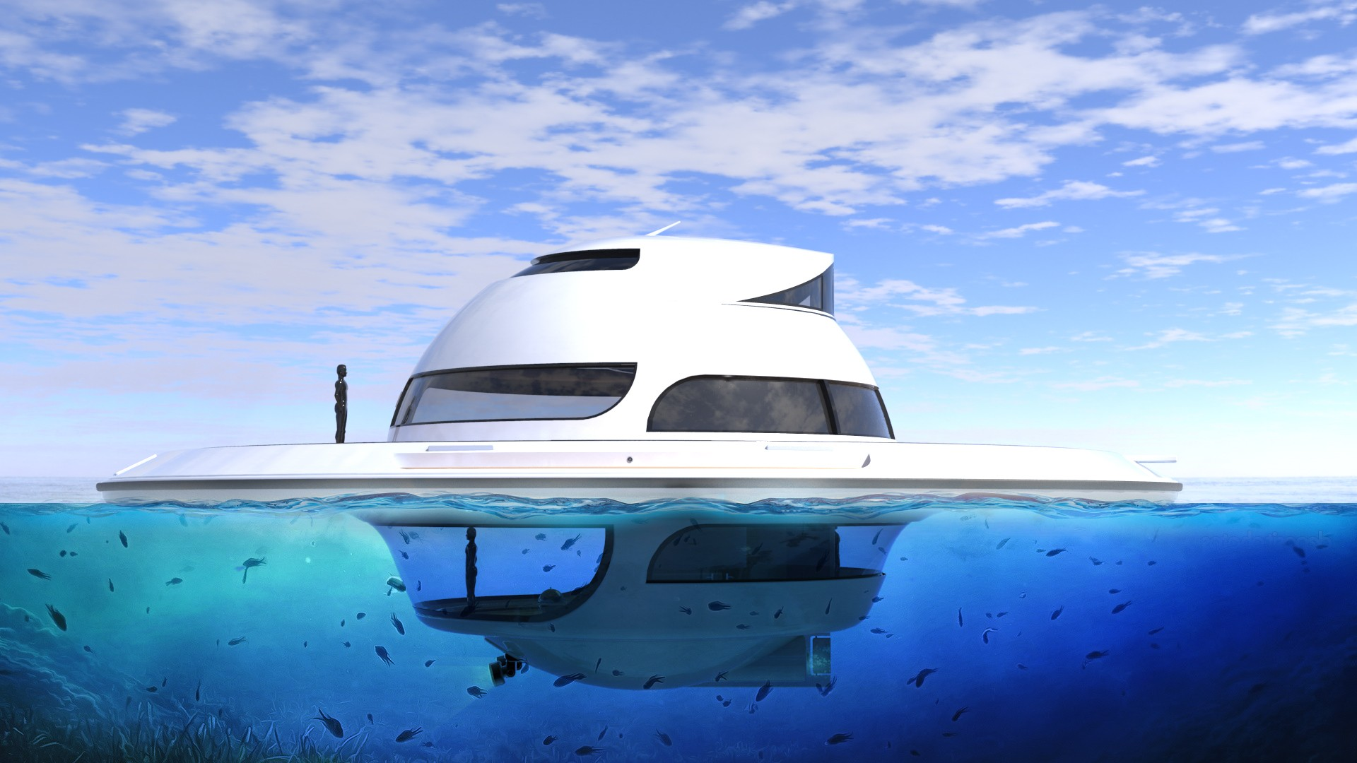 U F O Is The Self Sufficient Luxury Houseboat You Will Never Want To Leave Autoevolution