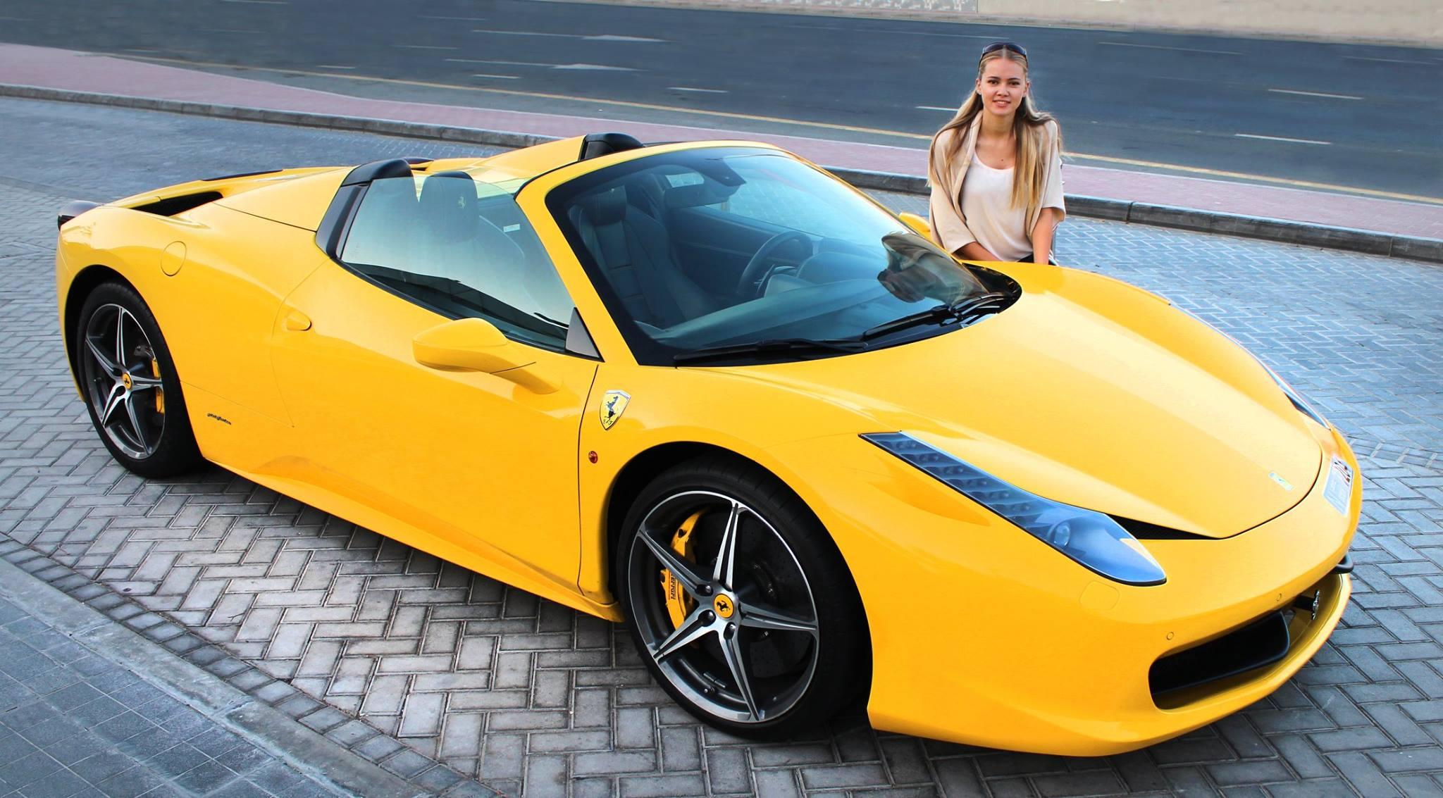 Ukrainian Model Tety Tudor Drives Her New Ferrari 458