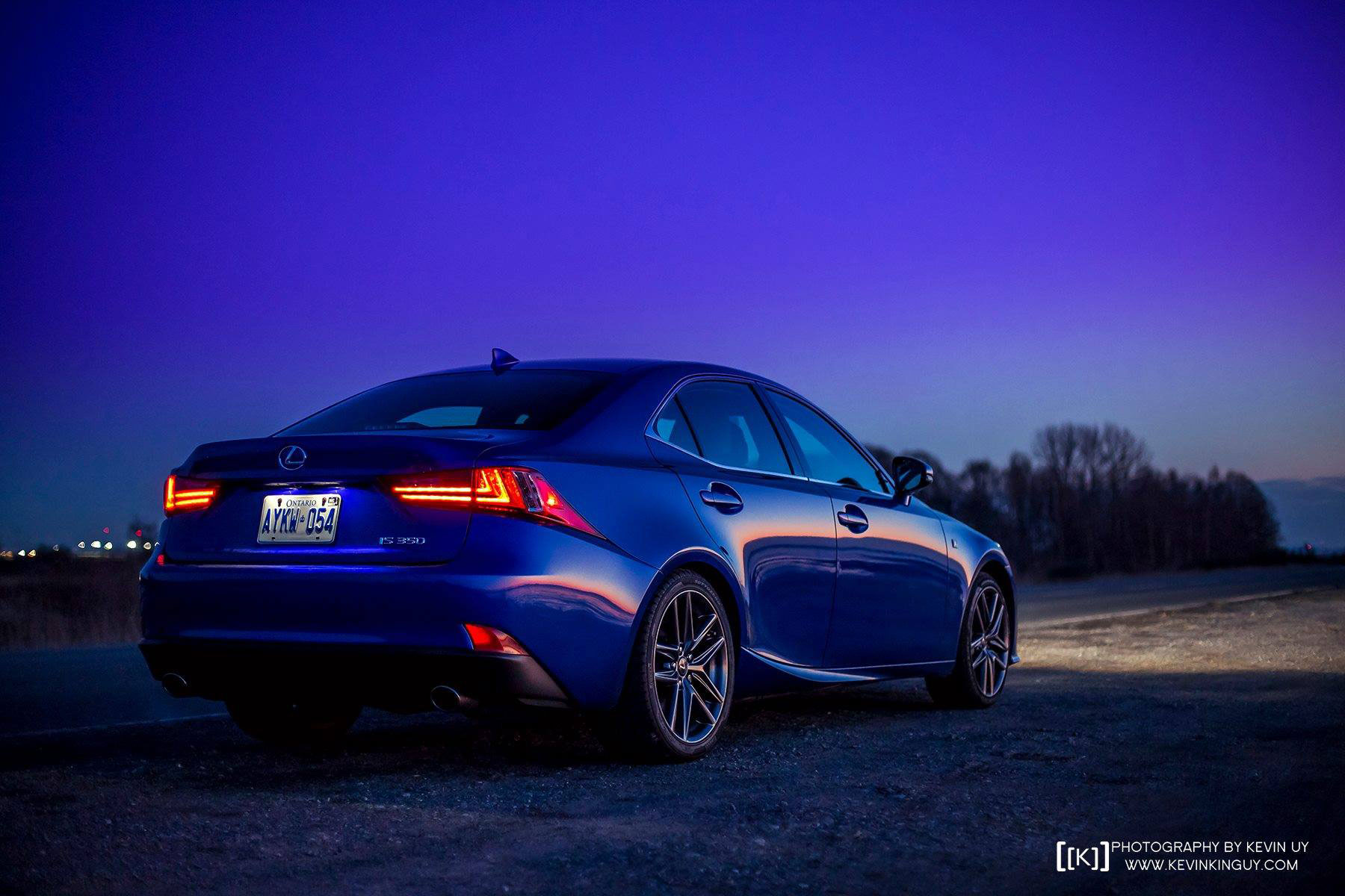 Ultrasonic Blue Lexus Is F Sport At Dusk For Your Desktop