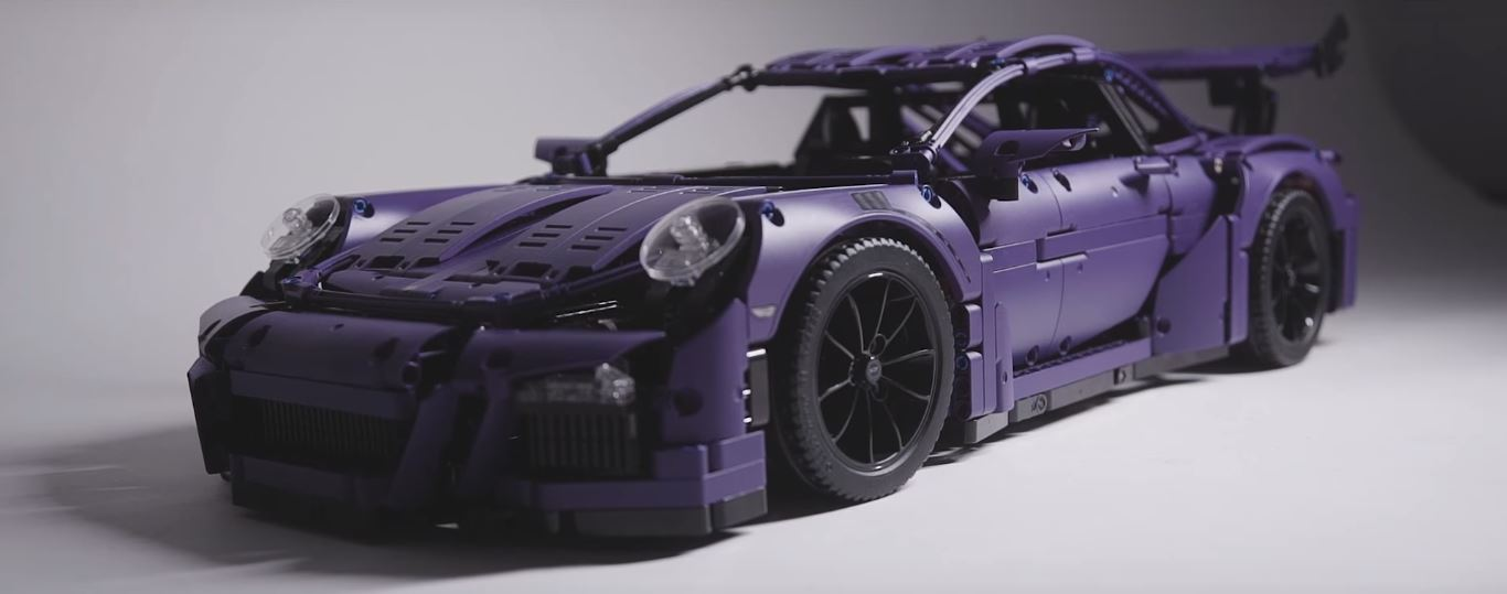 ultraviolet blue lego technic porsche 911 gt3 rs finally happens as diy build autoevolution. Black Bedroom Furniture Sets. Home Design Ideas