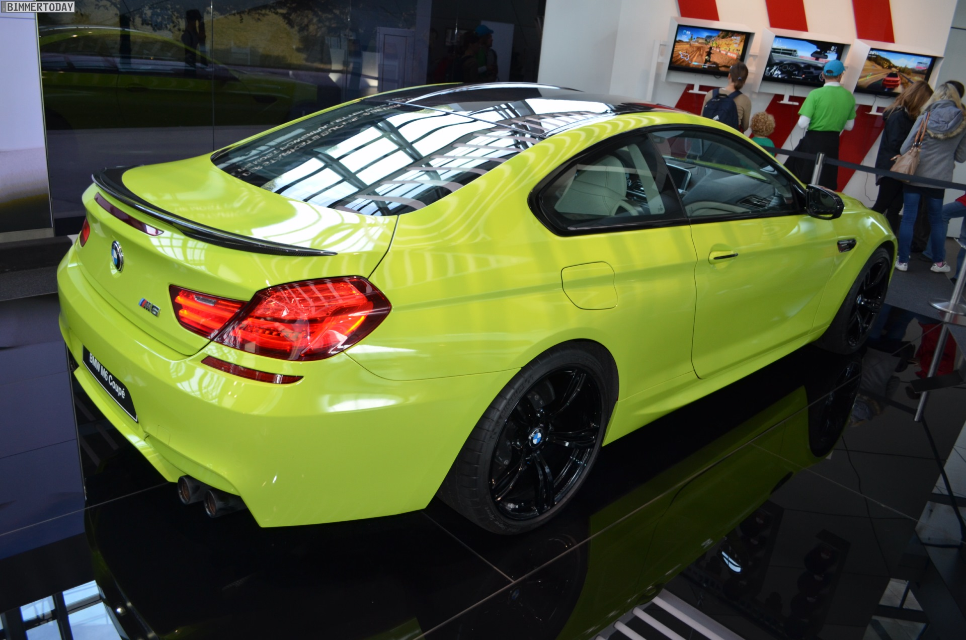 Unique Neon Green Bmw M6 Coupe Shows Up At Bmw Welt