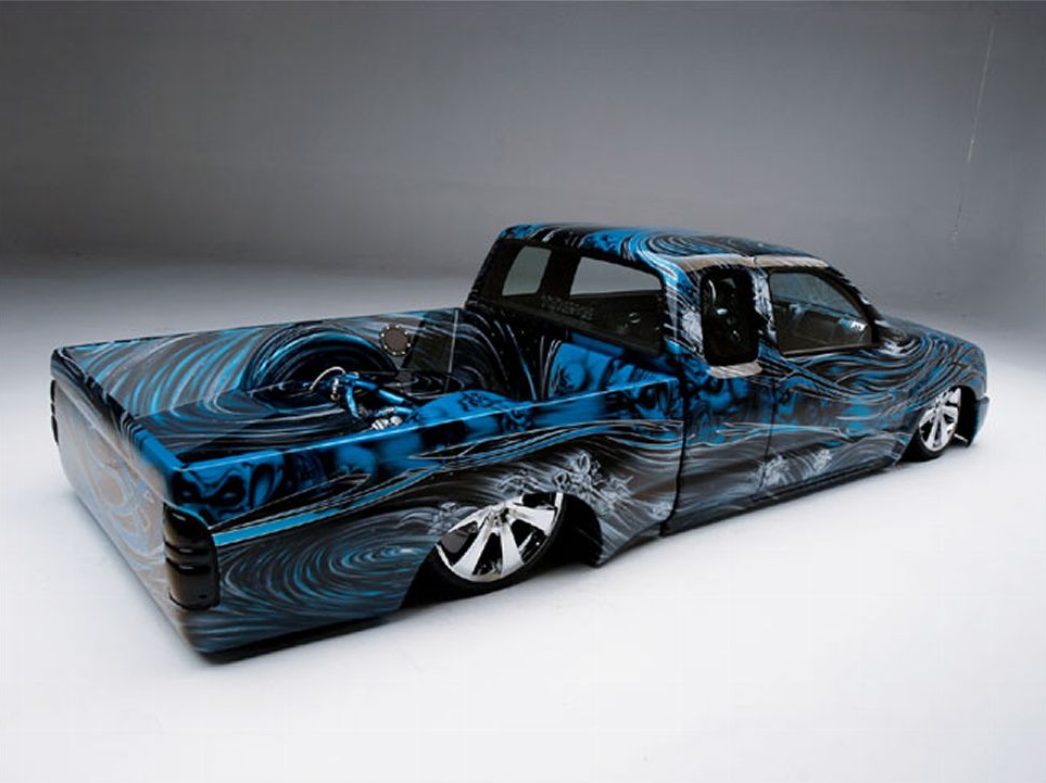 Unique Painted 1999 Toyota Tacoma Rides Low Autoevolution