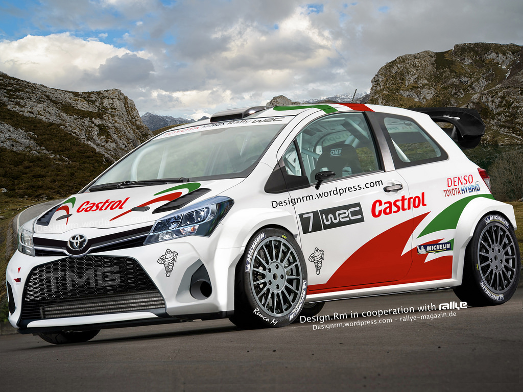 up ing toyota yaris wrc might look like this   autoevolution