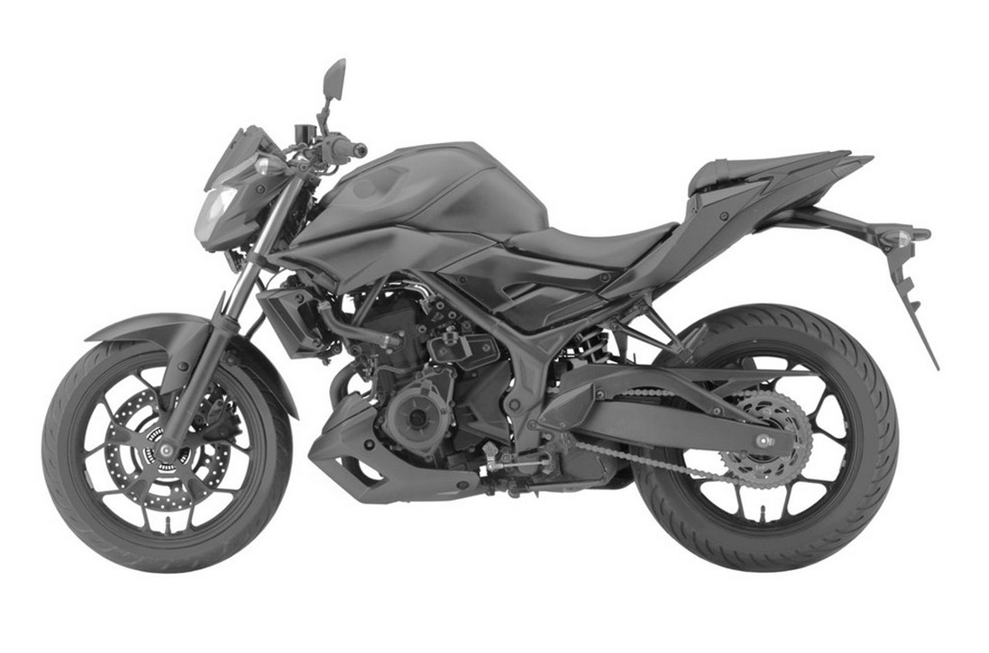upcoming yamaha mt 03 revealed in patent pics has abs autoevolution. Black Bedroom Furniture Sets. Home Design Ideas