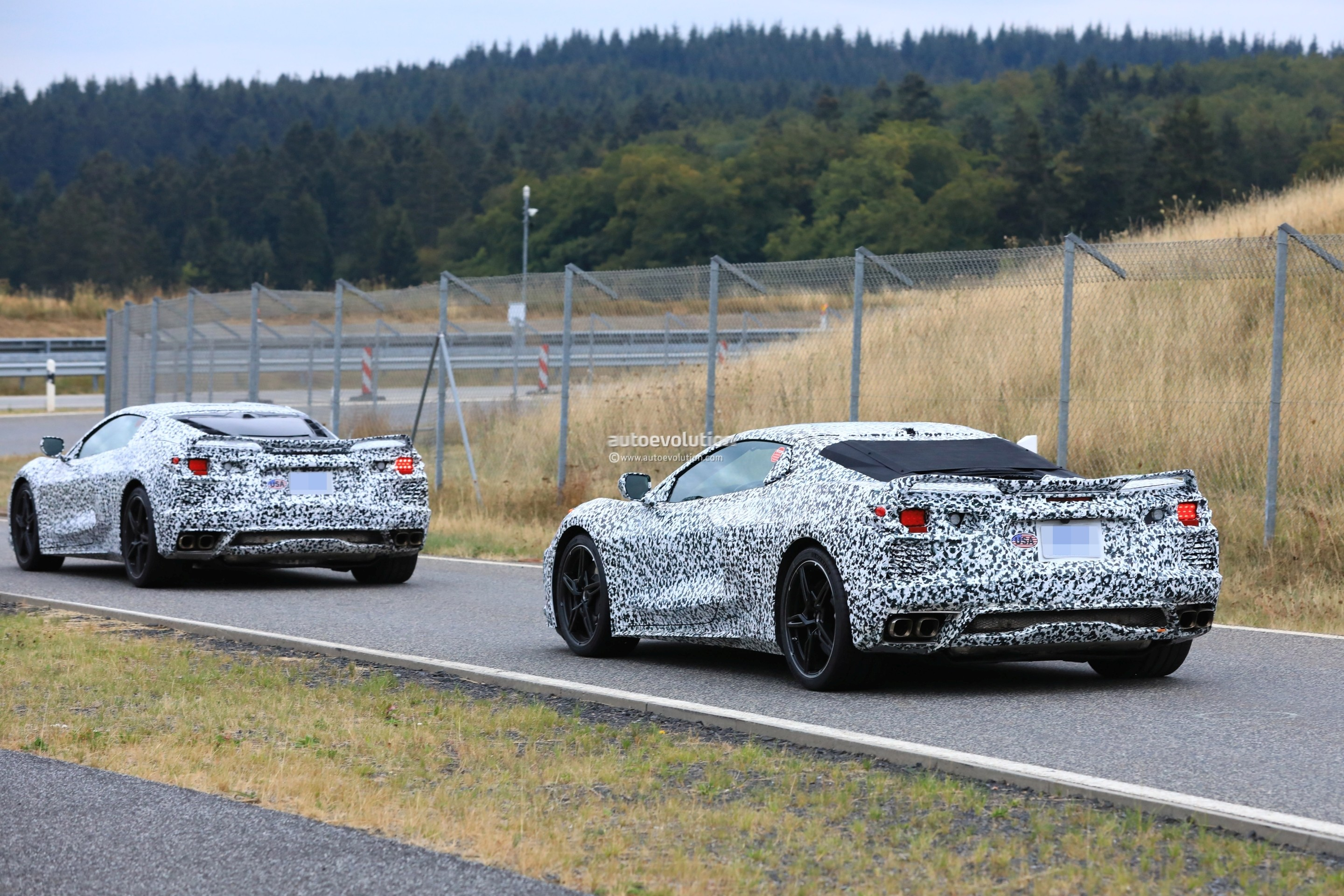 Update Mid Engined C8 Corvette Hits Nurburgring Twin