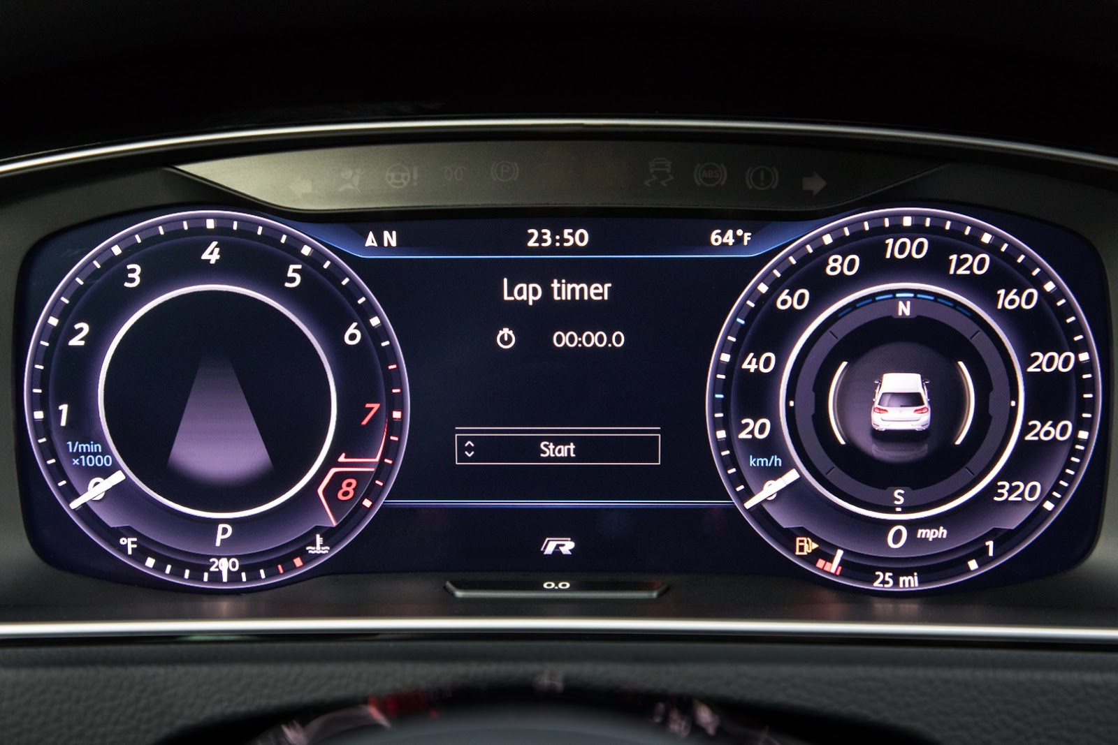 Updated 2018 VW Golf Debuts With LED Lights, Digital Cockpit in ... | {Auto cockpit vw 65}