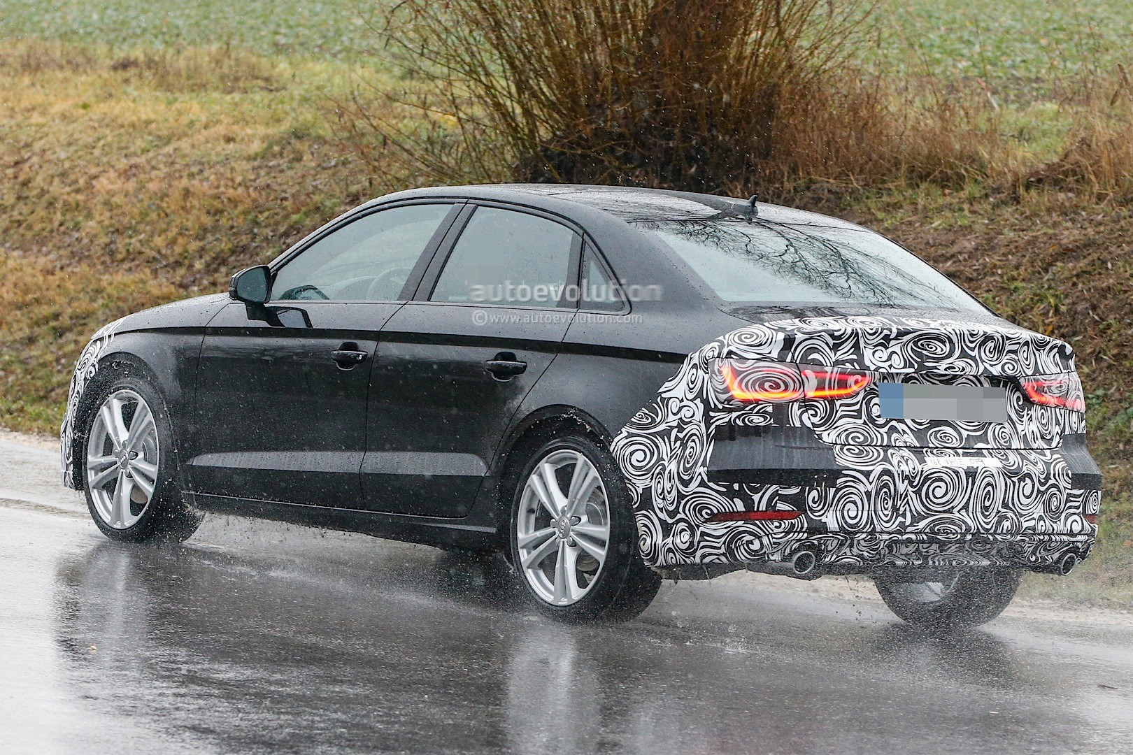 updated us spec 2017 audi a3 sedan spied testing for the first time with 2 0 tfsi autoevolution. Black Bedroom Furniture Sets. Home Design Ideas