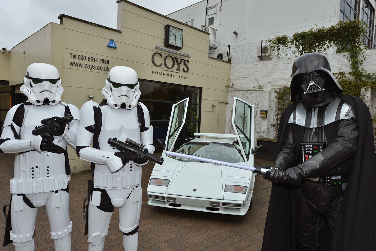 Using Darth Vader And Storm Troopers To Sell 1984 Lamborghini Countach 5000 S May Work